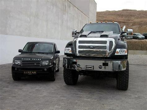 land rover ford range rover looks so small next to ford f650