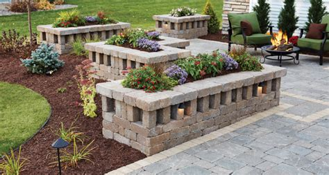 Block Wall Planters by Pavers Anchor Block Company