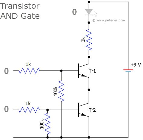 transistor nor gate circuit transistor logic and gate