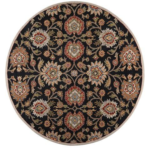 echelon area rug home decorators collection echelon black 9 ft 9 in x 9 ft 9 in area rug 8784790210