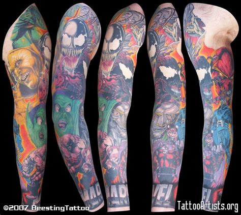 marvel tattoo sleeve marvel sleeve artists org