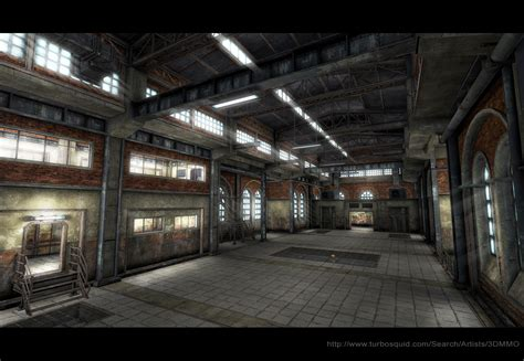 warehouse interior old factory interior low poly by sergey ryzhkov on deviantart