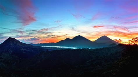 despacito bali montagnes de papier peint ciel bali lever kintamani