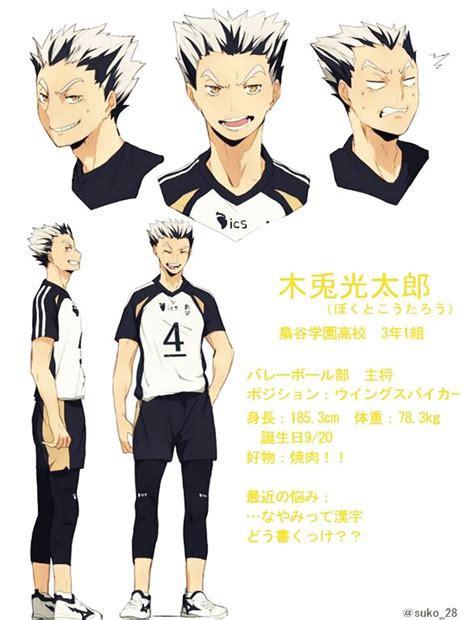 Haikyuu S2 new character designs for season 2 koutarou bokuto