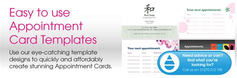 appointment cards design templates appointment card design templates print buying direct