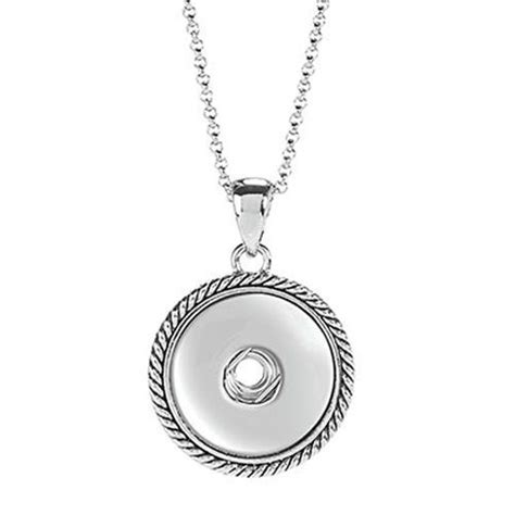 snaps rope pendant necklace sn90 10 interchangeable