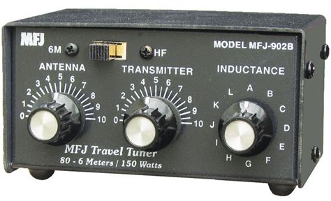Mfj 974h Hf 1 8 54mhz 300w Blcd Line compact travel tuner 3 5 54 mhz antenna tuner 150 watts so 239 connectors