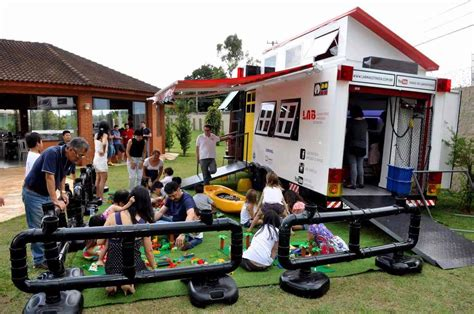 tiny house with kids lego mobile tiny house lab for kids in brazil