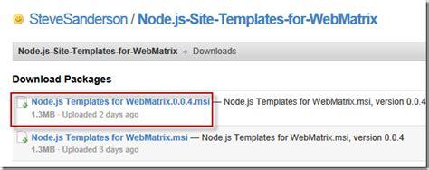 The Will Will Web 如何在windows作業系統安裝 Node Js 執行環境 Webmatrix Node Js Website Template Free