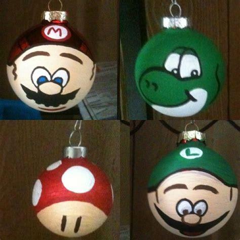 mario brother christmas tree ornaments i made mario