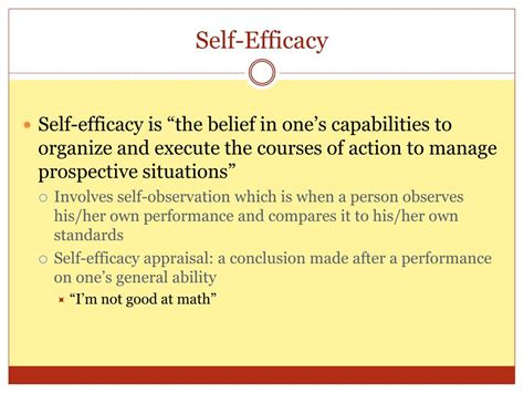 L Efficacy by Ppt Albert Bandura A Study On Self Efficacy Powerpoint