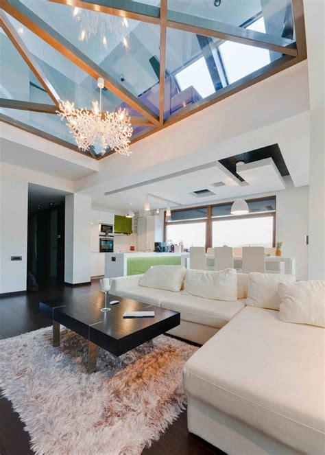 Glass Ceiling Design Wielkomiejski Klimat Jak Urządzić Salon W Stylu Loft