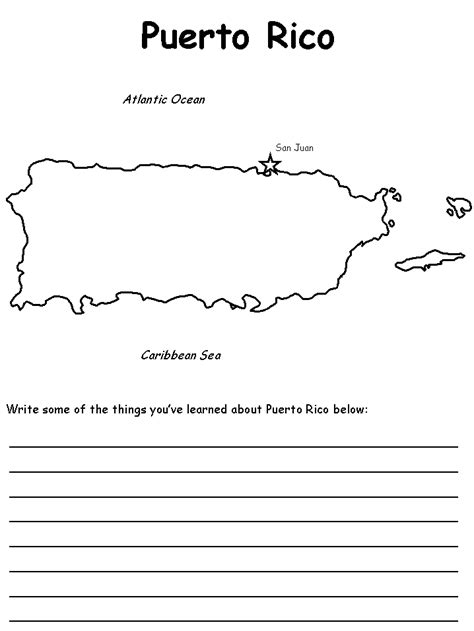 coloring page map of puerto rico map of puerto rico free coloring pages
