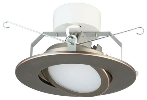 bronze led recessed lighting lithonia 6 quot rubbed bronze led gimbal module modern
