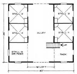 plans for barns abilene 4 stall barn plan