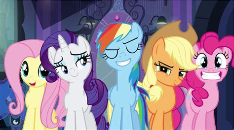 Bgc My Pinkie Pony Rainbow Dash And Friends Kantung Depan Tas R image rainbow dash and friends standing in front of mirrior png my pony equestria