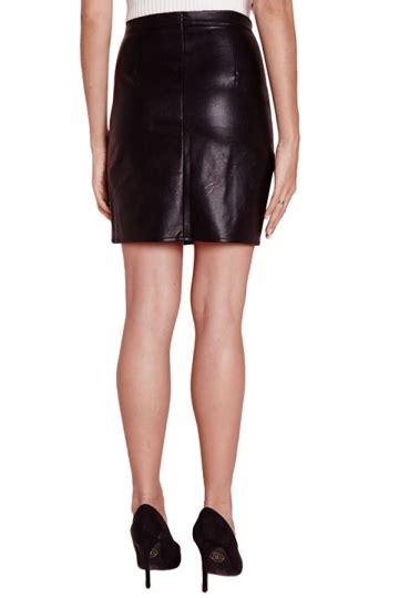 Skirt Black Import womens slim zipper back lined pu leather skirt black pink
