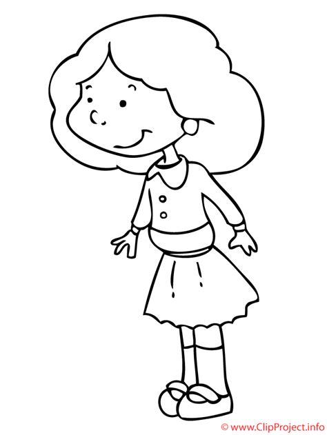 imagenes de ninas para dibujar nina mirando dibujo para colorear gratis