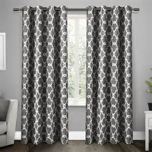 grey blackout curtains grommet new set 2 curtains panels drapes 63 84 96 108 in blackout