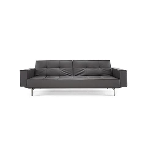 settee with arms fabric sleeper sofa with leather arms reversadermcream com