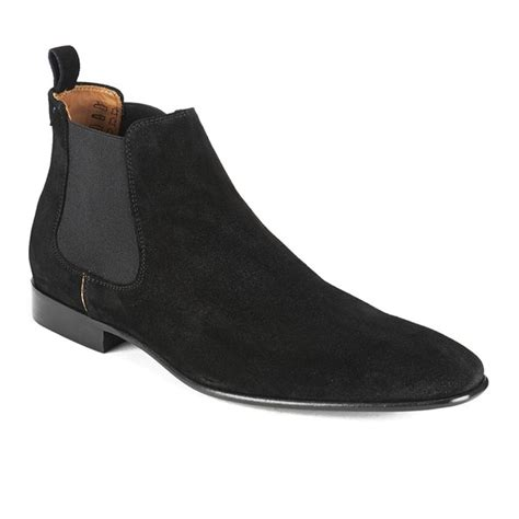 black suede mens boots paul smith s falconer suede chelsea boots in black for
