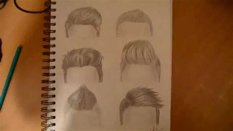 boys hairstyle step by steps drawing 6 boy hairstyles by marryrdbsongs youtube