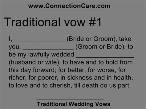 Wedding Vows Catholic by Traditional Wedding Vows