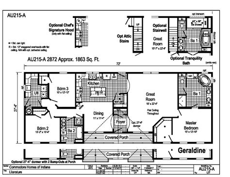 commodore homes floor plans aurora classic ranch modular geraldine au215a find a