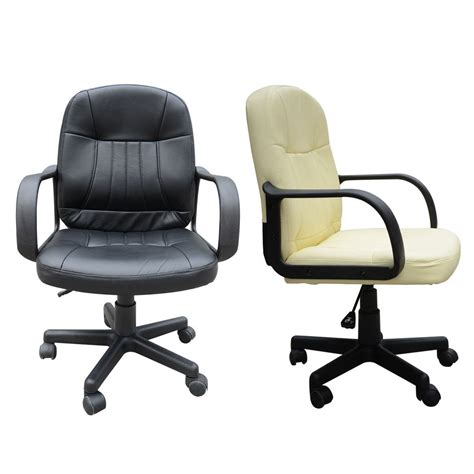 chair laptop desk uk swivel executive office pc chair pu leather computer desk