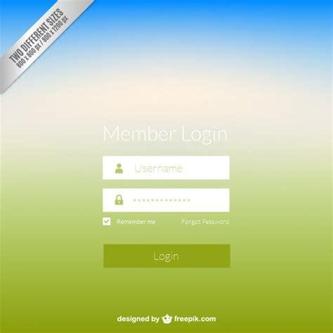 scarica web gratis pannello di login web scaricare vettori gratis