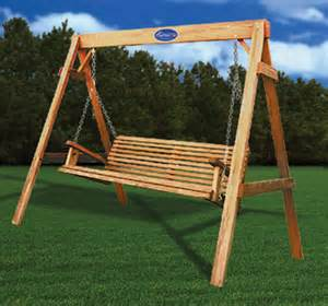 wooden free standing porch swing pdf plans
