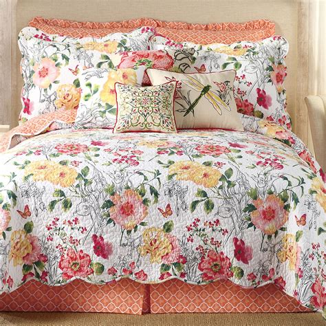coverlet quilts amabelle floral quilt bedding