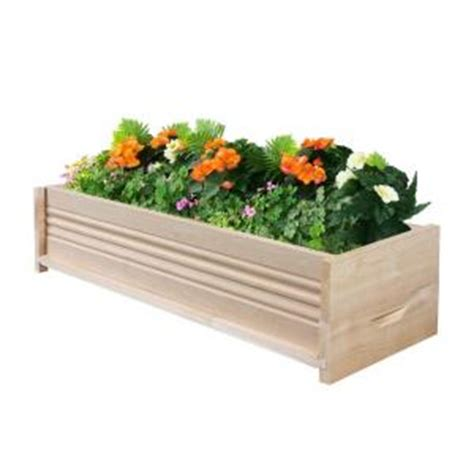 Fence Planters Home Depot by Greenes Fence 30 In L Cedar Planter Box Rcpb1230 The