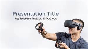 free virtual reality powerpoint template pptmag