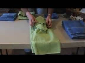 how to tie towels to impress your clients youtube