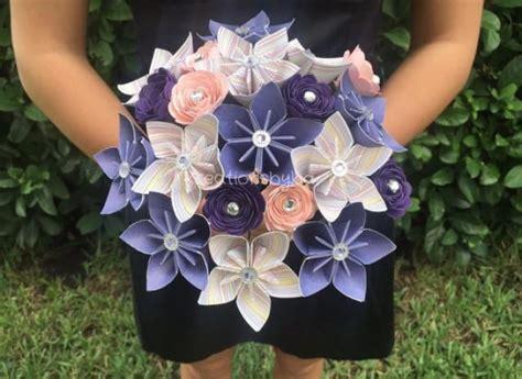 Origami Flower Bouquet Wedding - new item shabby chic paper flower bouquet kusudama