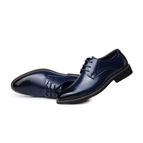 new fashion genuine leather dress shoes
