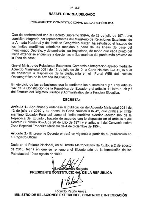 nuevo decreto 024 mineria peru chile hoy nuevo decreto ecuatoriano que define la