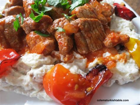 ottoman casserole recipe ali nazik kebab lamb stew over smoked eggplant and