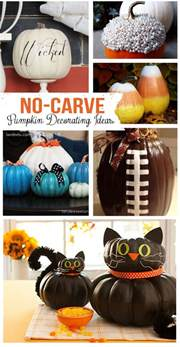 no carve pumpkin decorating ideas landeelu