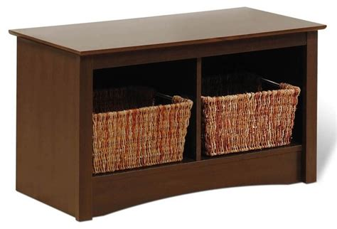 2 cubby storage bench entryway storage bench w 2 cubbies in espress