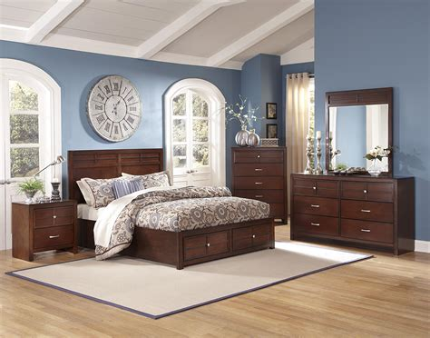 new classic kensington 4 pc panel storage bedroom set in