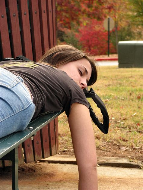 girls bench sleeping free stock photo a teen girl sleeping on a
