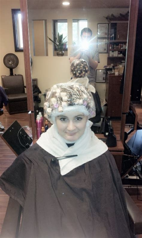 sissy perms at the salon sissyperm