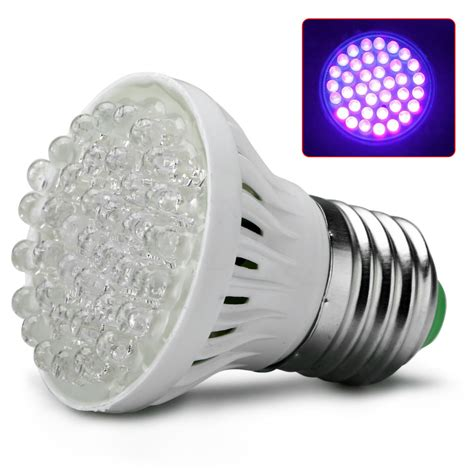extra bright light bulbs ultra bright e27 uv ultraviolet color purple light 38led
