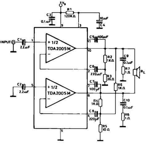 bridged lifier diagram tda lifier circuits