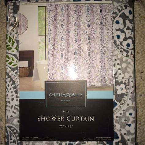 teal and grey shower curtain cynthia rowley paisley floral medallion blue teal grey