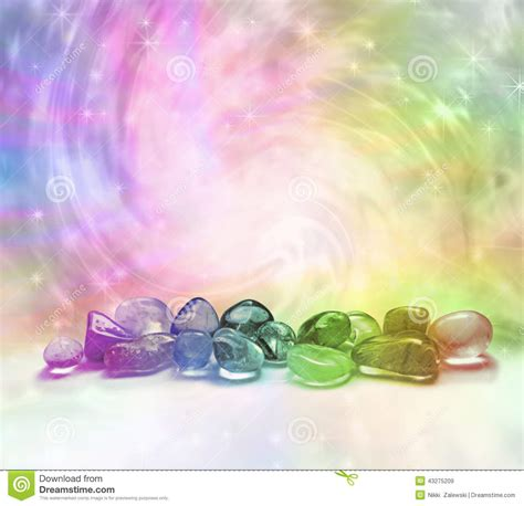 cosmic healing crystals stock image image  holistic