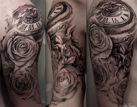 skull rose and bird tattoo clock skull roses and bird designs 187 ideas