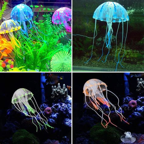 fish tank aquarium glowing artificial floating jellyfish